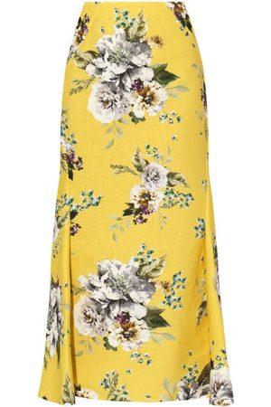 Erdem Ivetta Carnation-print Cotton-blend Skirt - Womens - Print