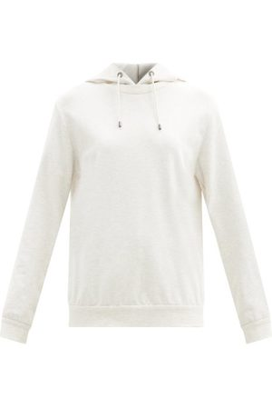 Brunello Cucinelli Cotton-blend Hooded Sweatshirt - Womens - Ivory