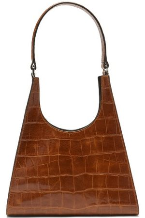 Staud Rey Crocodile-effect Leather Handbag - Womens