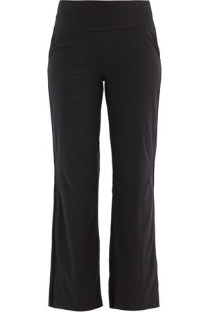 Lunya Cool High-rise Cotton-blend Jersey Trousers - Womens