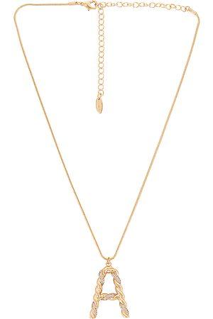 Ettika Initial Necklace in Metallic .