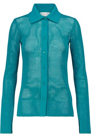 Bottega Veneta Cotton-blend mesh cardigan