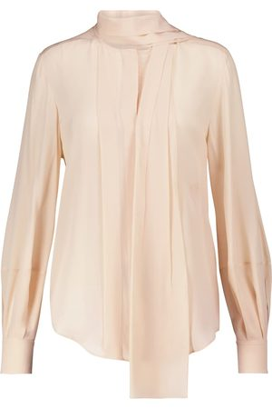Chloé Tie-neck silk crêpe de chine blouse