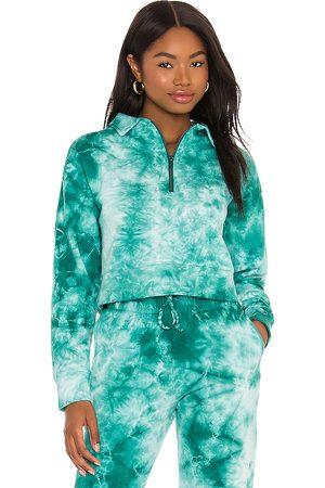 Frankies Bikinis X REVOLVE Bowie Half Zip Sweatshirt in Green.