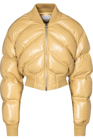 Bottega Veneta Cropped leather down jacket