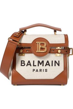 Balmain B-Buzz 23 leather-trimmed shoulder bag