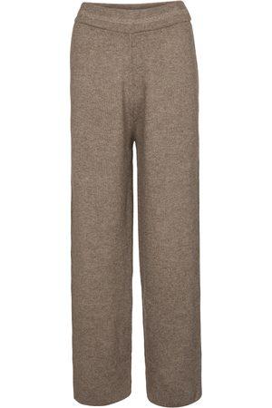 Frankie Shop Ribbed-knit wide-leg pants