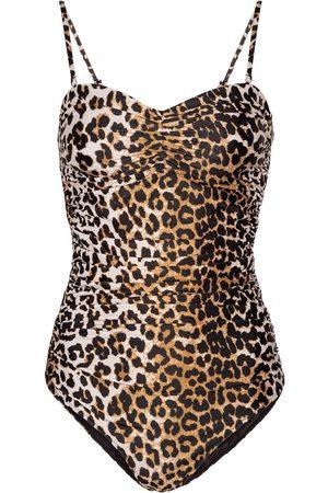 Ganni Leopard-print swimsuit