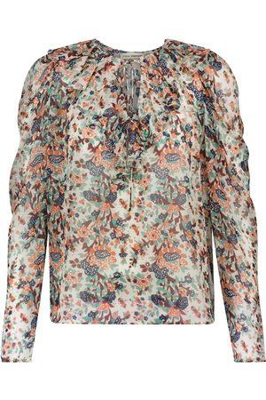 ULLA JOHNSON Astrid floral silk-blend blouse