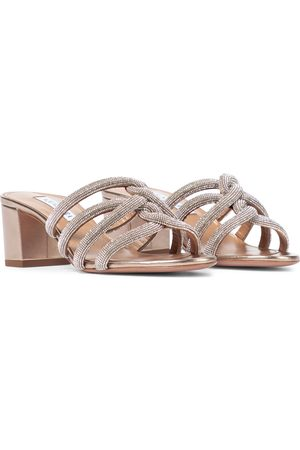 Aquazzura Moondust 50 embellished sandals