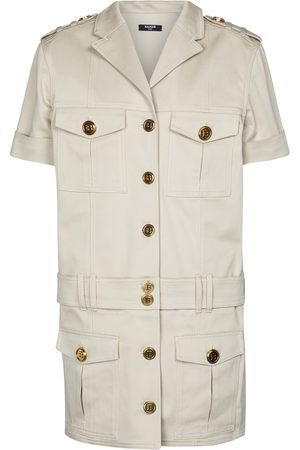 Balmain Stretch-cotton denim shirt dress