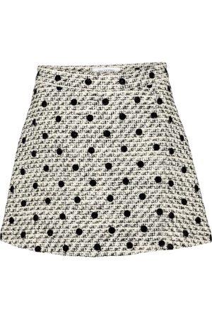 VALENTINO Tweed pois floqué miniskirt