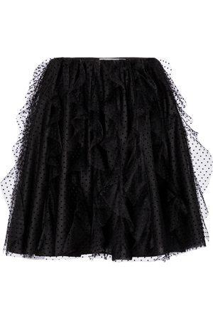 VALENTINO Point d'Esprit tulle miniskirt