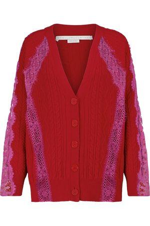Stella McCartney Lace-trimmed wool cardigan