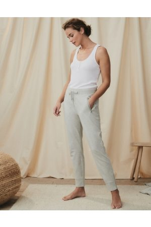 The White Company Zip-Detail Jersey Joggers