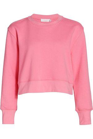 Jonathan Simkhai Standard Women's Jordi Terry Crop Sweatshirt - - Size Medium