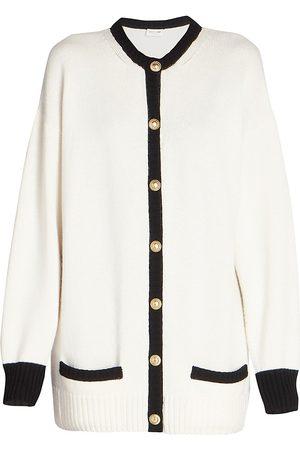 Saint Laurent Women Cardigans - Women's Lady Cashmere Cardigan Sweater - - Size XL