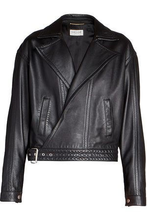 Saint Laurent Women Leather Jackets - Women's Perfecto Oversized Leather Jacket - - Size 38 (6)