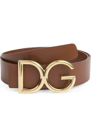 Dolce & Gabbana Men Belts - Men's DG Logo Buckle Belt - - Size 115 (46)