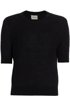 Khaite Women's Dianna Short-Sleeve Cashmere Knit Sweater - - Size Large