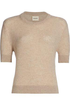 Khaite Women Sweaters - Women's Dianna Short-Sleeve Cashmere Knit Sweater - - Size Small