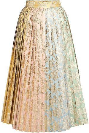 Dolce & Gabbana Women's Multi Jacquard Pleated Skirt