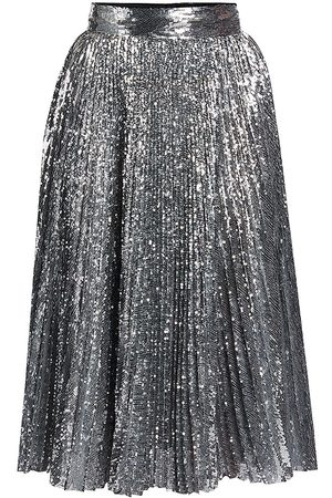 Dolce & Gabbana Women's Pleated Sequin Midi Skirt - - Size 46 (10)
