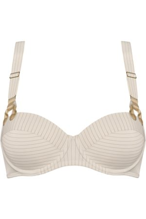 Marlies Dekkers Gloria plunge balcony bra | wired padded pristine and gold - 36G
