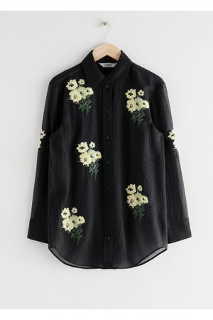 & OTHER STORIES Oversized Floral Embroidery Shirt