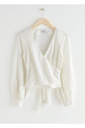 & OTHER STORIES Back Tie Wrap Blouse
