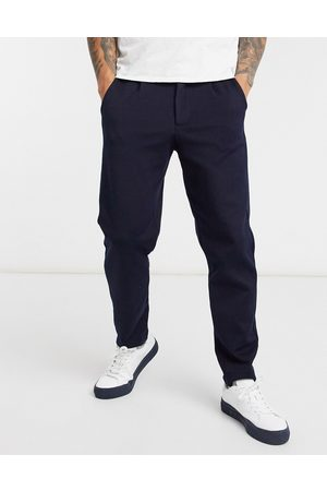 Selected Tapered pants set in navy