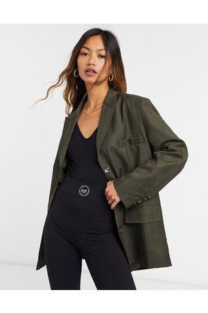 ASOS Weekend dad suit blazer in khaki