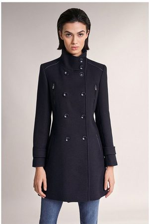 Salsa Long Duffle Coat With Detail