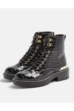 Topshop Lace up chunky boots in