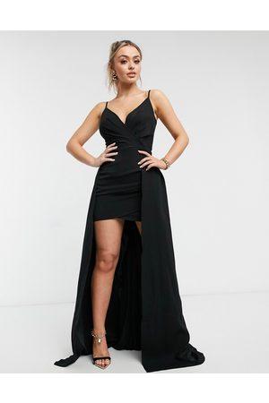 Yaura Cami maxi dress in black