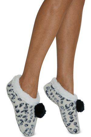 Cejoli Snow Cheetah Faux Fur Slippers