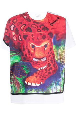 Kenzo Painterly-print design T-shirt