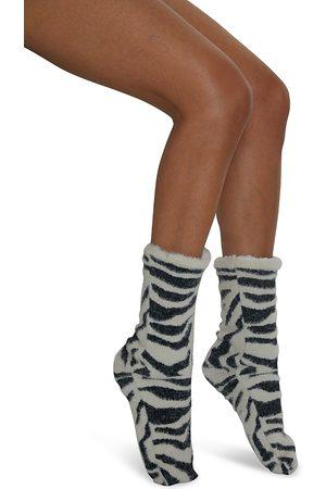 Cejoli Snow Tigress Faux Fur Slipper Socks