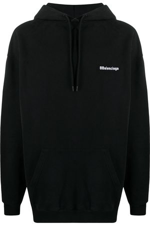 Balenciaga Men Hoodies - Embroidered logo hoodie