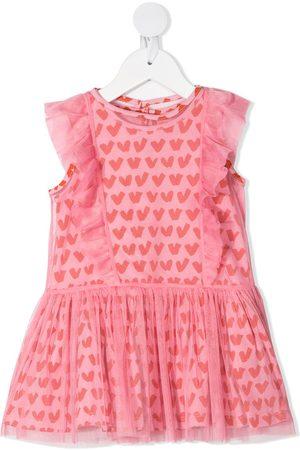 Stella McCartney Baby Printed Dresses - Heart-print ruffle-trim dress