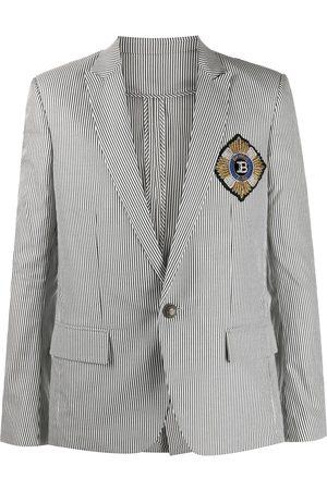 Balmain Striped single-breasted blazer