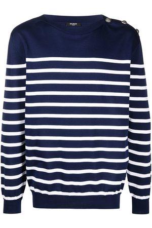 Balmain Breton stripe knitted jumper