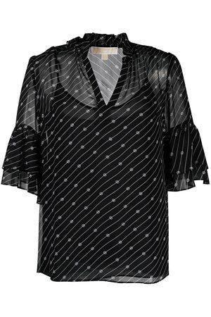 Michael Kors Diagonal striped layered blouse