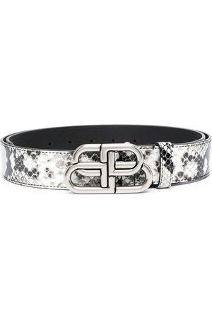 Balenciaga Men Belts - Snakeskin leather belt