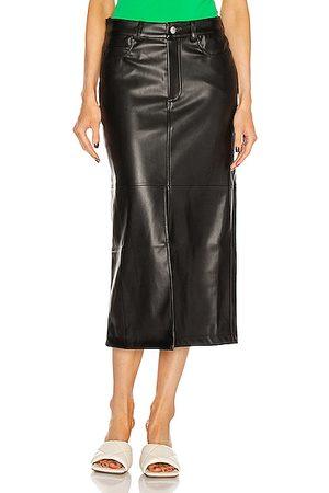 SIMON MILLER Khan 5 Pocket High Slit Skirt in