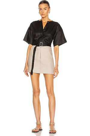 MATTHEW BRUCH Tunic Dresses - Colorblocked T-Shirt Tunic Dress in ,Neutral