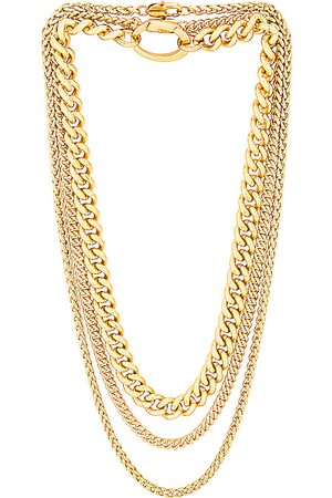Laura Lombardi For FWRD Presa, Curb, and Wheat Chain Necklace Set in Metallic