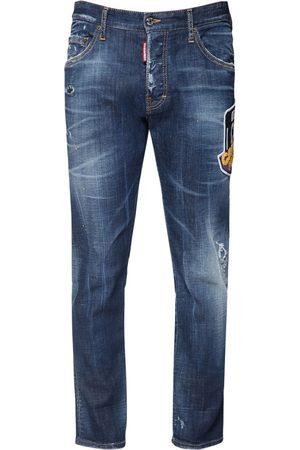 Dsquared2 Men Jeans - 16cm Icon Patch Skater Denim Jeans
