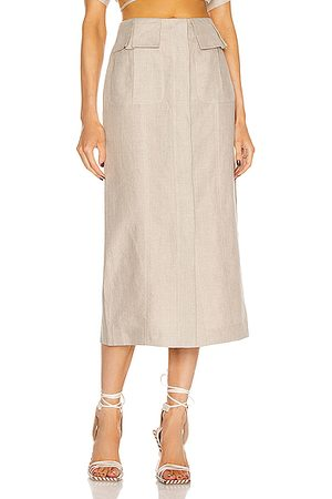 MATTHEW BRUCH Cargo Midi Skirt in Neutral
