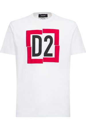 Dsquared2 Box Logo Print Cotton Jersey T-shirt
